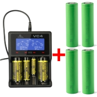 Xtar VC4 - Ladegerät inkl. 2/4 Sony Konion US18650VTC6 - 3120mAh, 3,6V - 3,7V (Flat Top)
