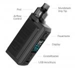 Voopoo Drag Max Pod Kit + Sony VTC5a Akku + XTAR VC2 + Coils VM1 + 50 ml Liquid