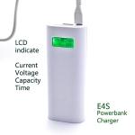 Soshine E4S LCD Power Bank-Ladegerät mit 1,0A/2,1A USB Ausgang und LCD Anzeige