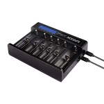 Xtar Ladegerät 18650 Queen Ant MC6 LiIon USB-Ladegerät mit 6 Schächten und Display günstig kaufen