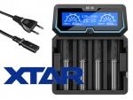Xtar X4 - Ladegerät inkl. 2/4 Sony Konion US18650VTC6 - 3120mAh, 3,6V - 3,7V (Flat Top)