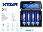 Xtar X4 - Ladegerät inkl. 2/4 Sony Konion VTC5A Akkus 18650 - 2600mAh 35A