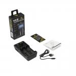 Xtar VC2 - Ladegerät für Li-Ion Akkus inkl. 4 Sony Konion VTC5A Akkus 18650 - 2600mAh 35A
