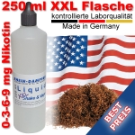 Liquid Tabak American Blend dunkel 250 ml XXL Shake and Vape - Made in Germany