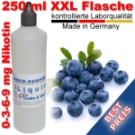 Liquid Blaubeere / Heidelbeere 250 ml XXL Shake and Vape - Made in Germany