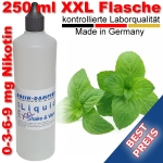 Liquid Minze 250 ml XXL Shake and Vape - Made in Germany
