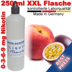 Liquid Pfirsich Maracuja 250 ml XXL Shake and Vape - Made in Germany