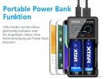 Xtar VC2-S - Akku Ladegerät + Powerbank inkl. 2/4 Sony Konion US18650VTC6 - 3120mAh, 3,6V - 3,7V (Flat Top)