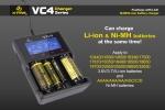 Xtar VC4 - Ladegerät für Li-Ion Akkus inkl. 4 Samsung INR18650 25R 2500mAh 3,6V - 3,7V 20A (Flat Top)