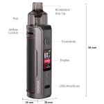 Voopoo Drag X Pod + Sony VTC5a Akku + XTAR VC2 + Coils VM1 + 50 ml Liquid